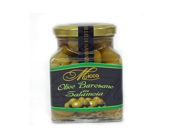 Olive baresane in salamoia con finocchio